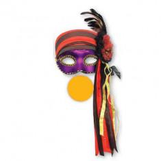 Veneciano Mascara Pirata C/flor Y Pluma Xu