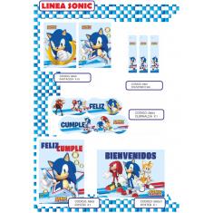 Sonic Gm Invitacion X 10