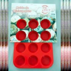 Silicona Molde Mini Muffin X 12  Liso Dos Lembas             --- Nº8        Plancha