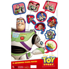 Toy Story Co Foto Booth  X 12. - - Adorno Para Foto