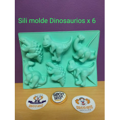 Sili Molde Dinosaurios X 6 En Plancha