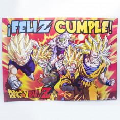 Dragon Afiche Feliz Cumple X 1  -ball Z-