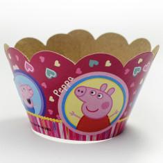 Pig Faja Cubre Cupcake X 10 - Peppa
