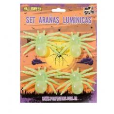Hal Arañas Luminicas Glow X 4