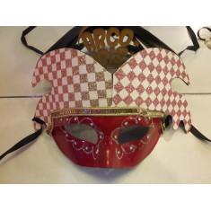 Veneciano Mascara .arlequin 2 Puntas Xu - Cuadricula Gibre