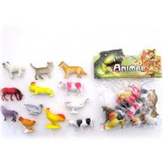 Animales Granja Med. X 6 -1706- Animal World -